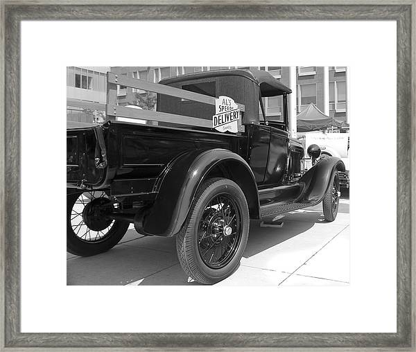 Speedy Delivery Framed Print