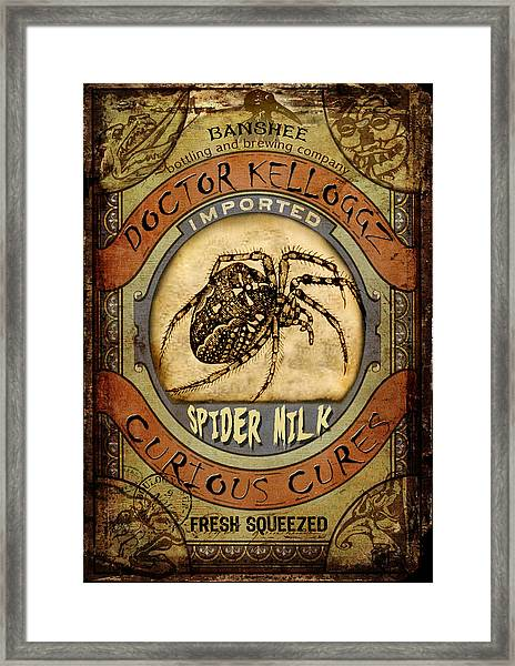 Spider Milk Framed Print