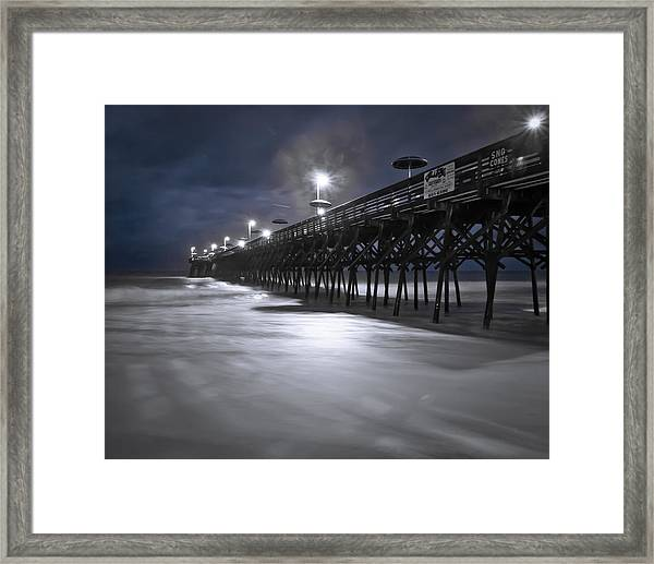 Framed Print featuring the photograph Spooky Pier by Francis Trudeau