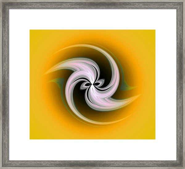 Framed Print featuring the digital art Spring Flower by Visual Artist Frank Bonilla