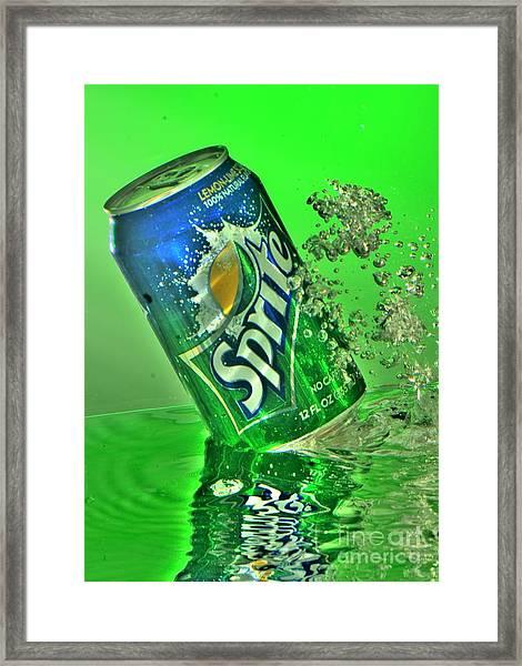 Sprite Splash Framed Print by Corky Willis Atlanta Photography