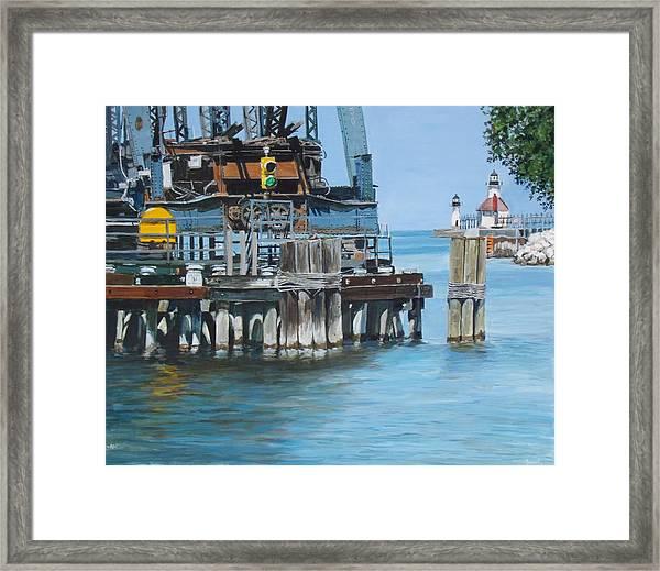 St. Joseph Swing Bridge Framed Print