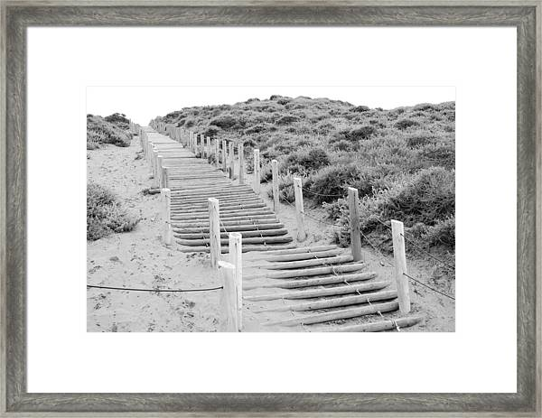 Stairs At Baker Beach Framed Print