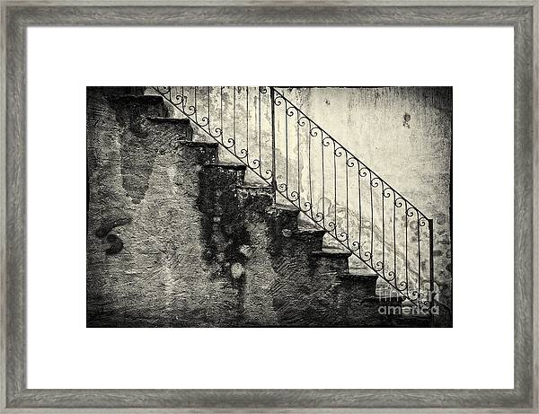 Stairs On A Rainy Day Framed Print
