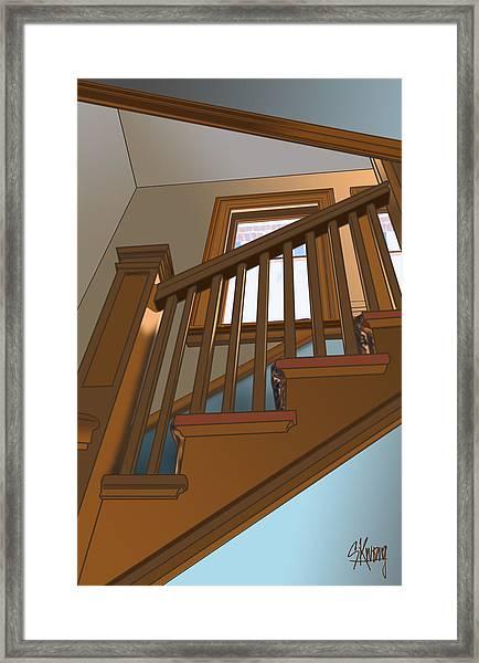 Stairway To 2nd Floor Framed Print
