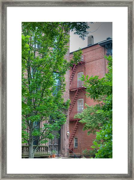Stairway To Safety Framed Print
