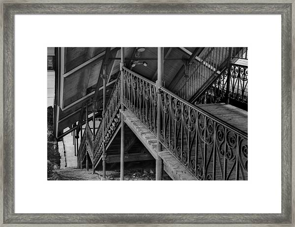 Stairway To Trains Framed Print