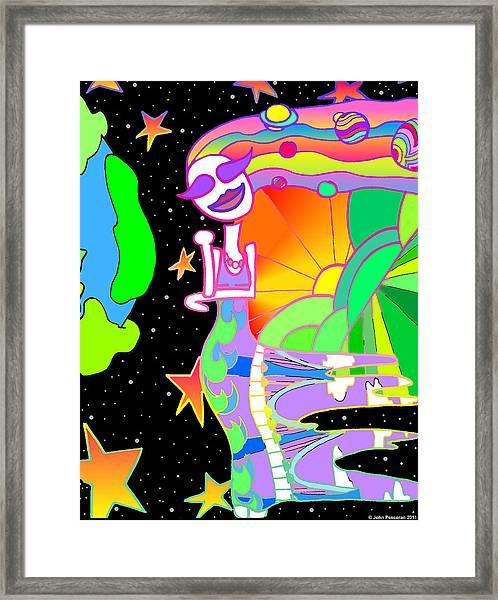 Star Shine Luminous Framed Print by John Pescoran