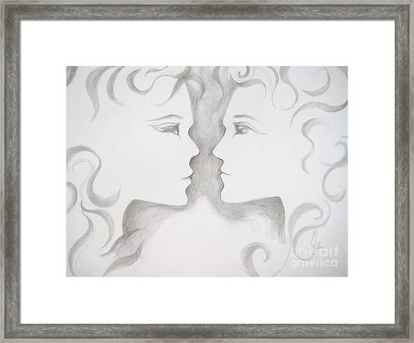 Staredown Framed Print