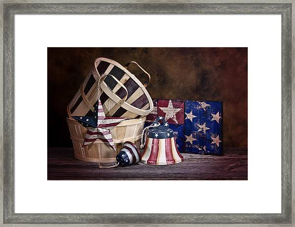 Stars And Stripes Still Life Framed Print