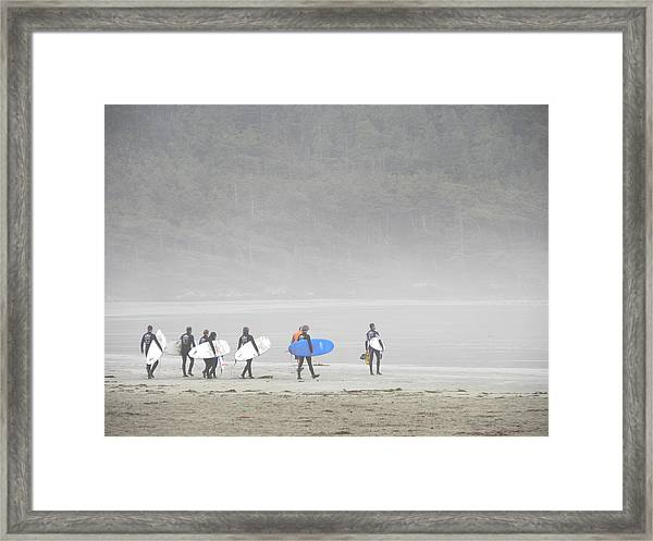 Start Your Day With A Wave Framed Print