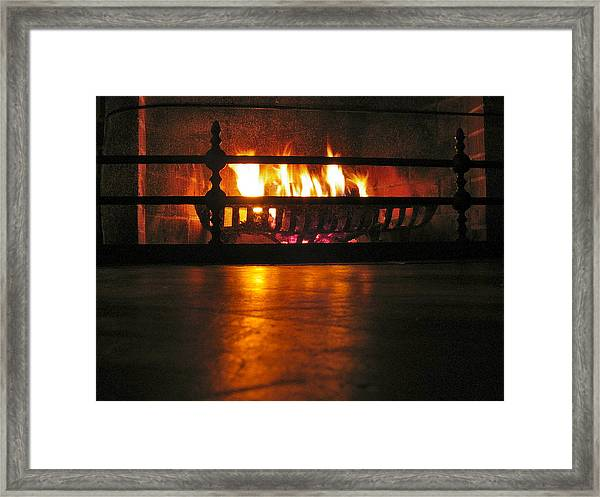 Staving Off The Coastal Chill Framed Print