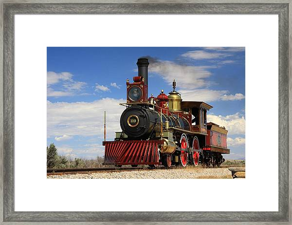 Steam Locomotive  Framed Print by Gene Praag
