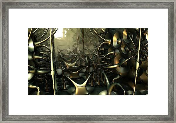 Steam Punk Roller Coaster Framed Print