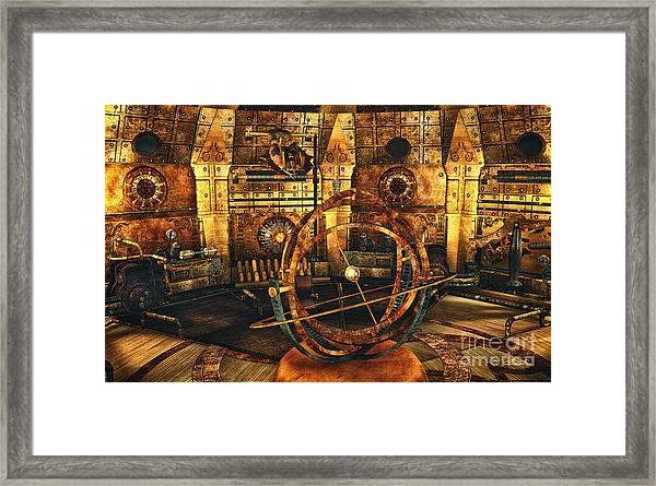 Steampunk Time Lab Framed Print