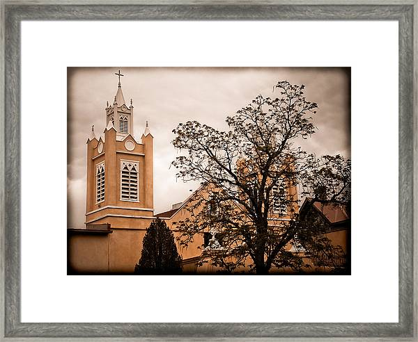 Albuquerque, New Mexico - Steeples Framed Print
