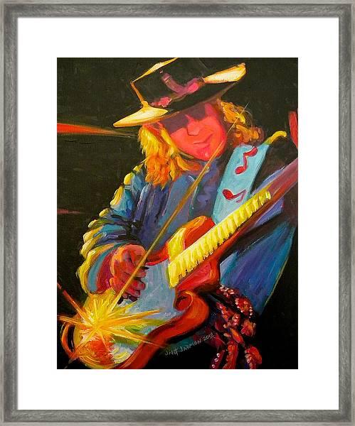 Stevie Ray Vaughn Framed Print
