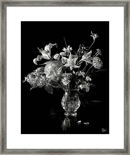 Still Life In Black And White Framed Print