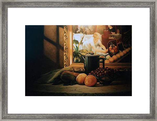 Still Life With Hopper Framed Print
