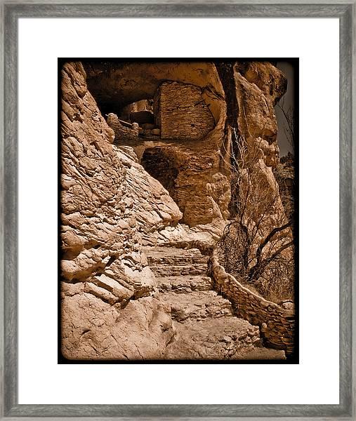 Stone Stairway Framed Print