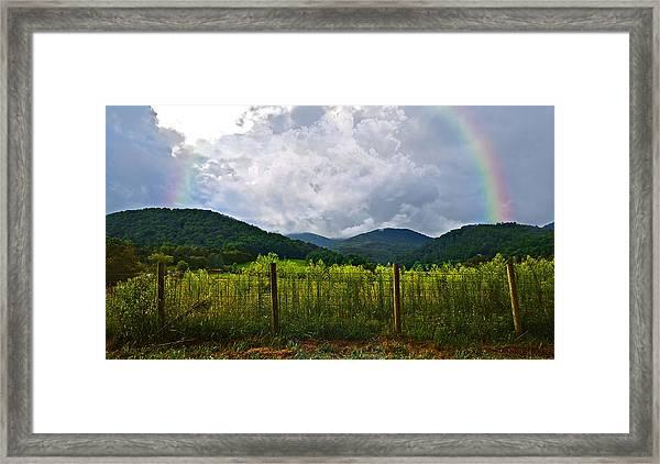 Storm Breaking Framed Print