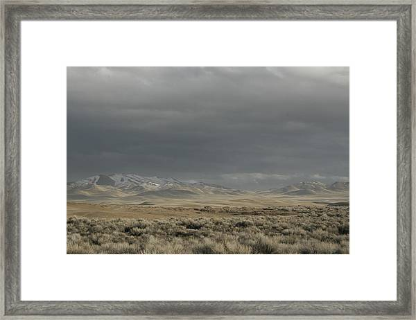 Storm In Dunes Framed Print