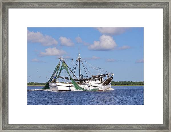 Framed Print featuring the photograph Stormy Seas by Ralph Jones