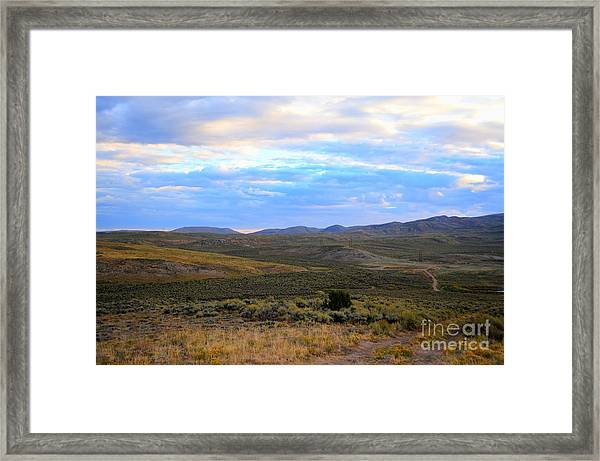 Stormy Wyoming Sunrise I Framed Print
