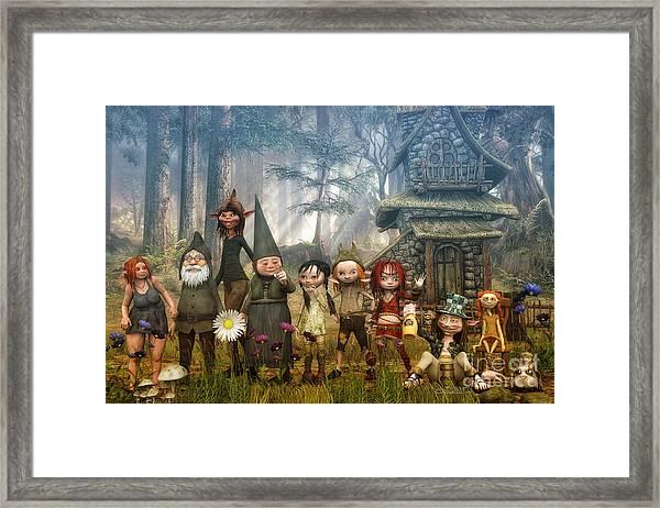 Strange Family Framed Print