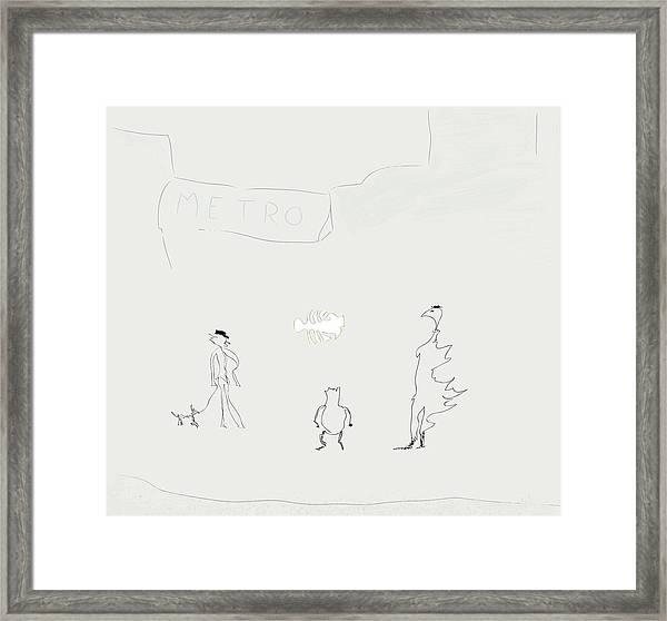 Street Apparition Framed Print