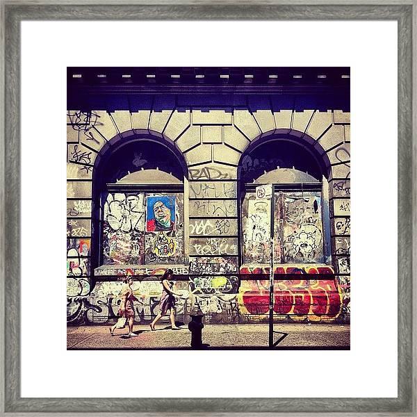 Street Art On The Bowery - New York City Framed Print