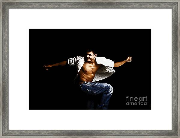 Street Dancer Framed Print