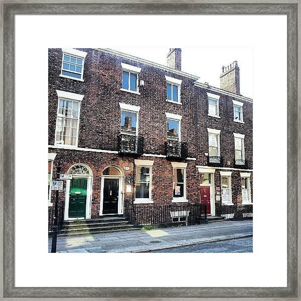 #street #houses #liverpool #buildings Framed Print
