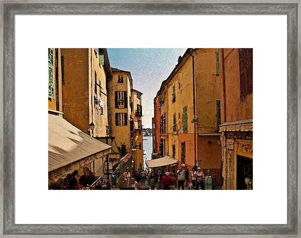 Street In Villefranche II Framed Print