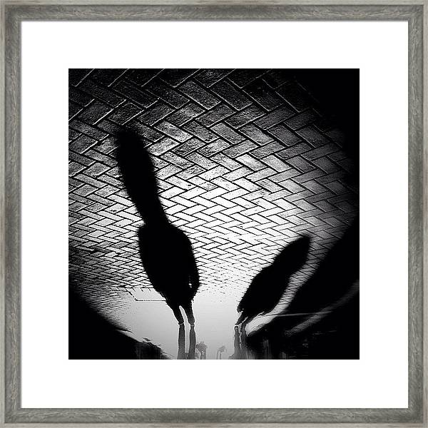 Streetwise. Last Sun/shadow Post For Framed Print