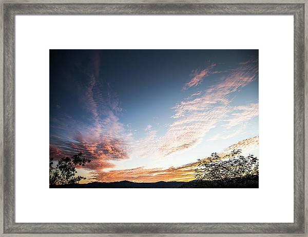 Striated Sunrise Framed Print