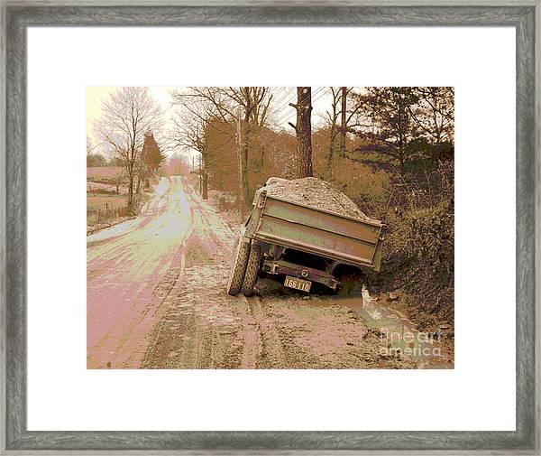 Stuck Truck Framed Print