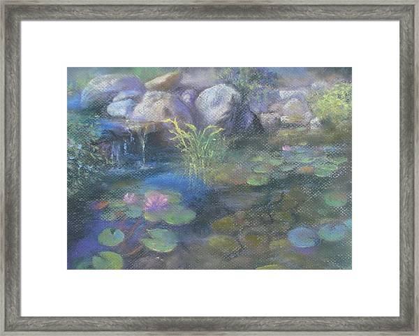 Study For Water Garden Framed Print