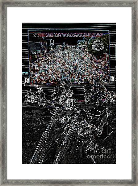 Stugis Motorcycle Rally Framed Print