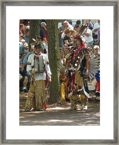 Subchiefs At Pow Wow Framed Print