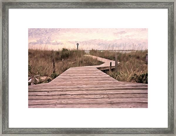Subtle Bridge Framed Print