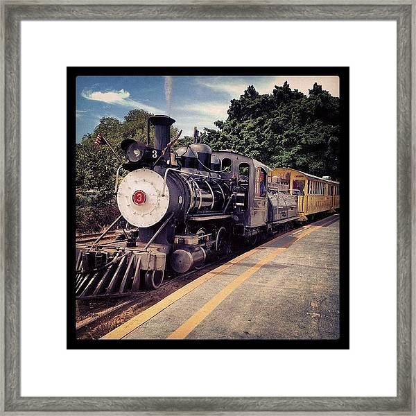 Sugar Cane Train Framed Print