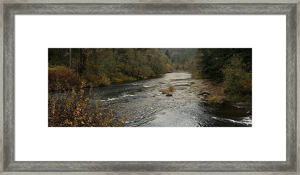 Suislaw River Panorama Framed Print by Mary Gaines