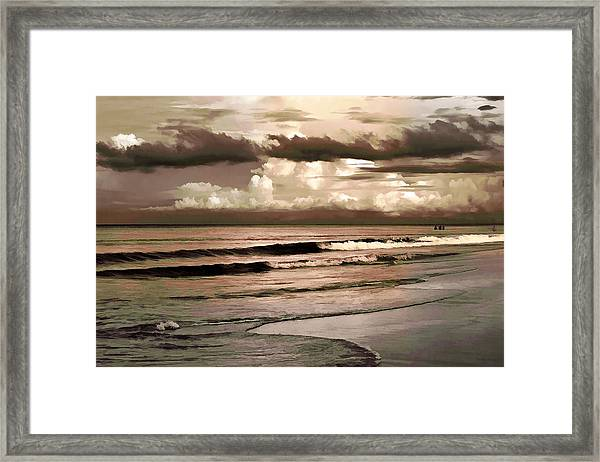 Summer Afternoon At The Beach Framed Print
