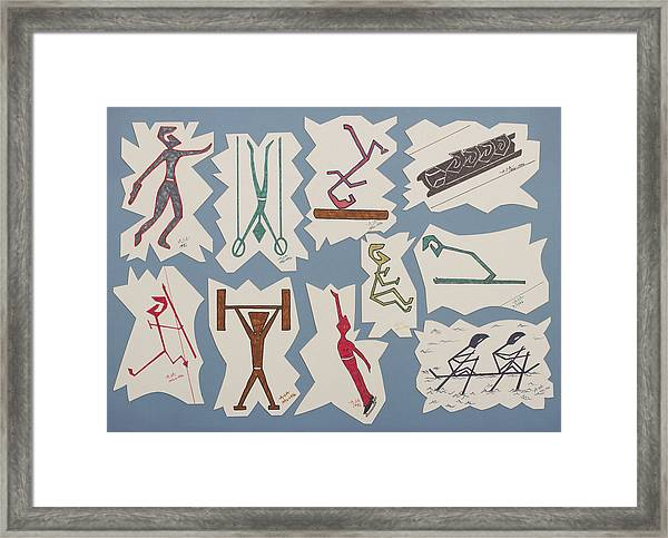 Summer And Winter Olympics Framed Print