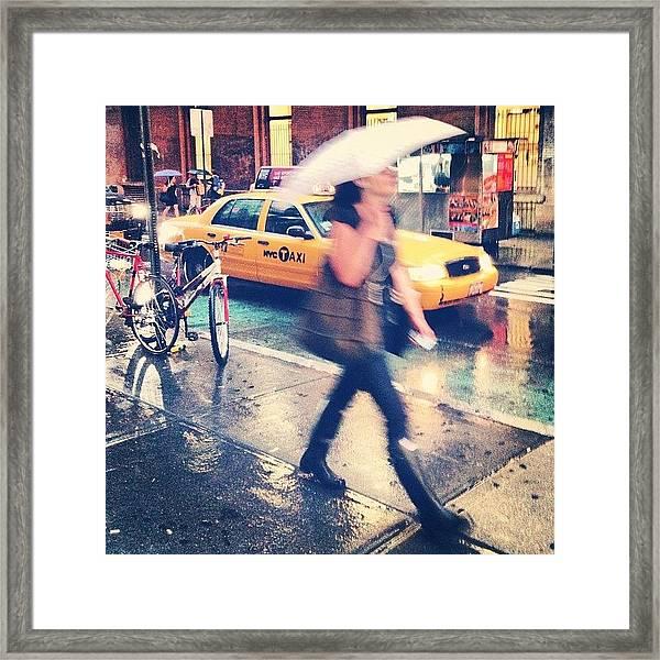 Summer Rain Framed Print