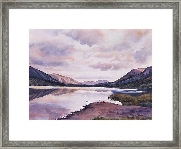 Summit Lake Evening Shadows Framed Print
