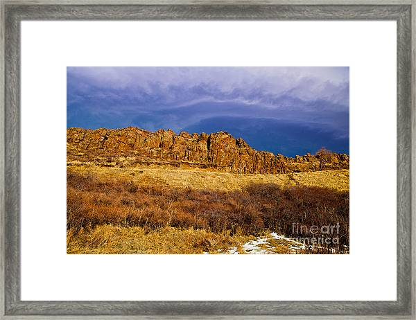 Sun And Clouds Framed Print