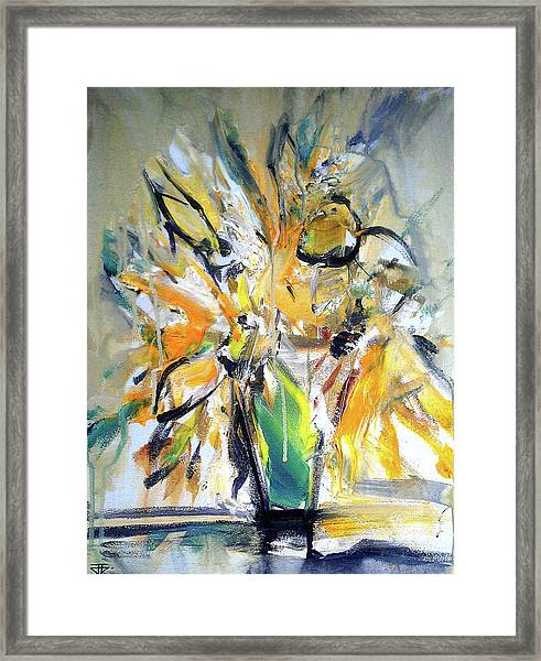 Sun Flower Day Framed Print