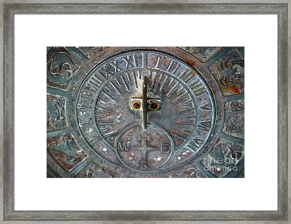Sundial Framed Print